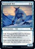 【ENG】霜峰のイエティ/Frostpeak Yeti[MTG_KHM_057C]